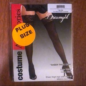 Accessories - Plus size Sheer thigh high stay up silicone top